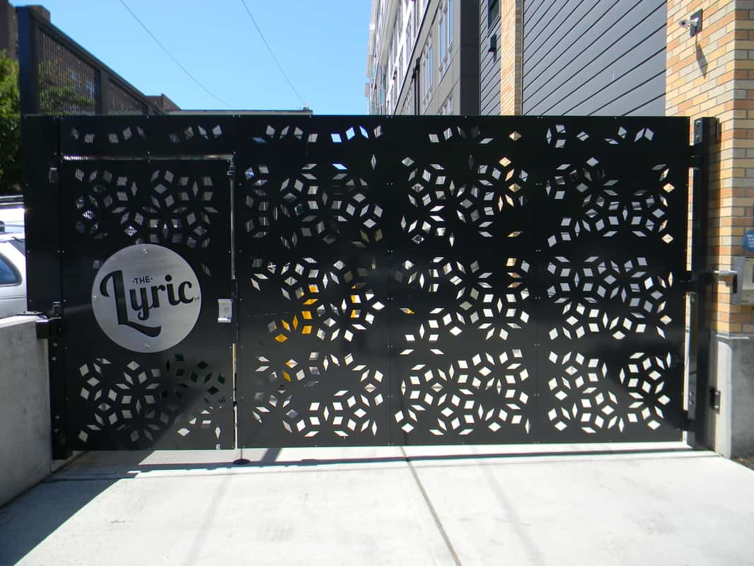 Custom Pattern Cut Security Gate