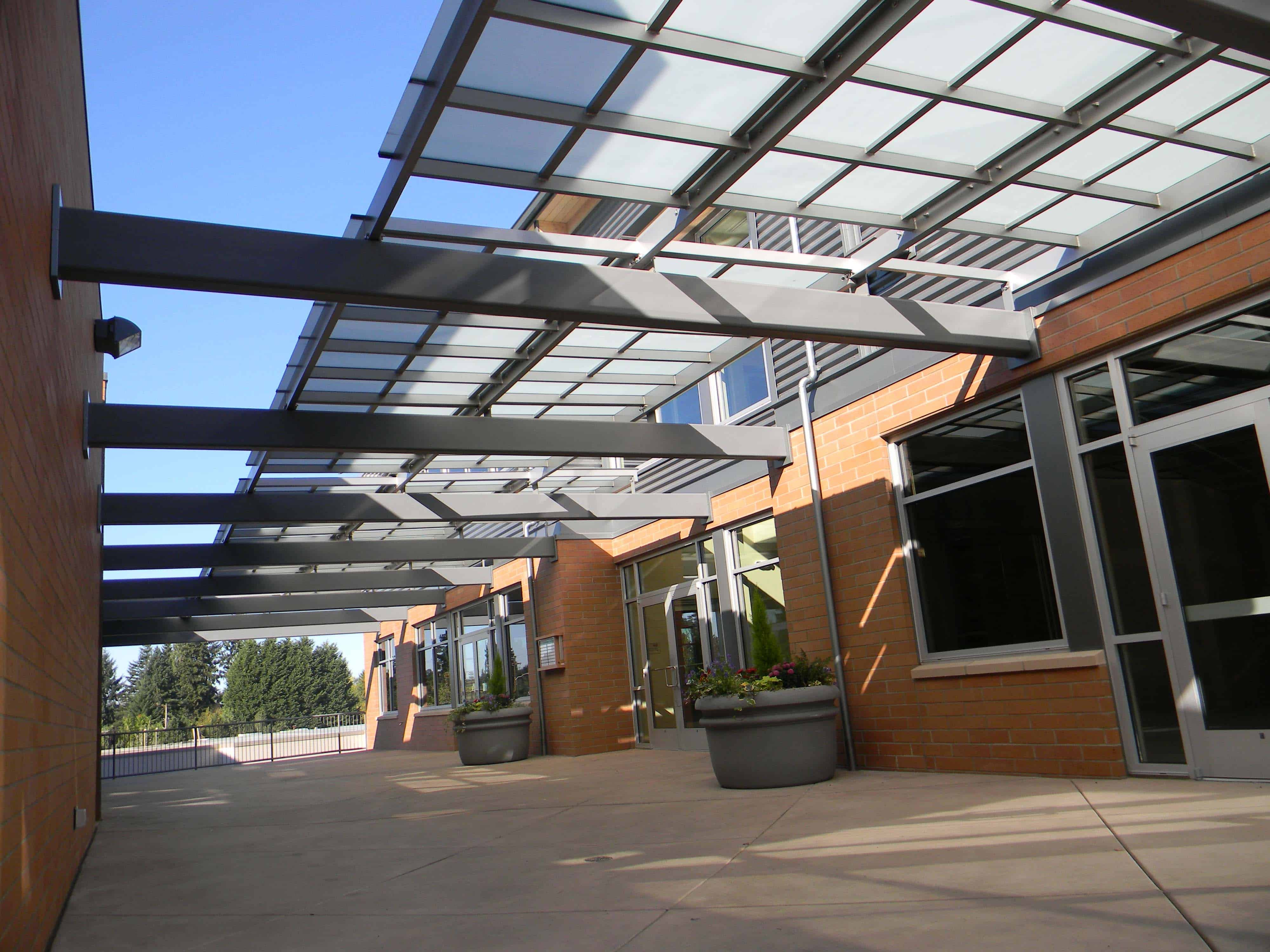 Breezeway Canopy with Etched Frit Glass